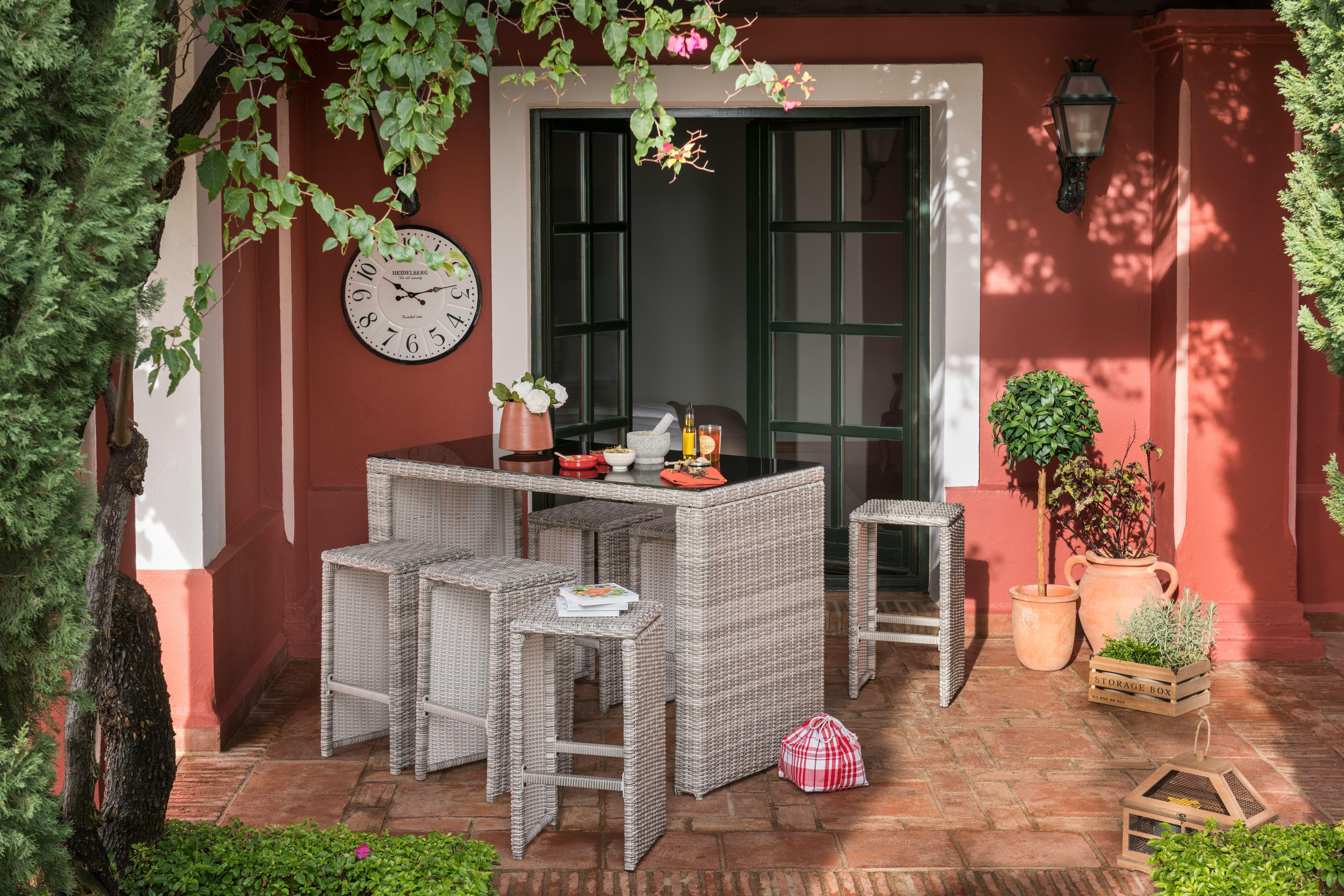 Soldes 2020 Salon De Jardin Et Ensemble Repas Gifi Amenagement Exterieur Terrasse Table Haute