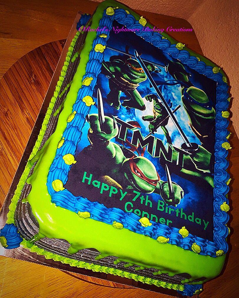 TMNT 1/4 Sheet Cake | Ninja turtle birthday cake, Ninja ...