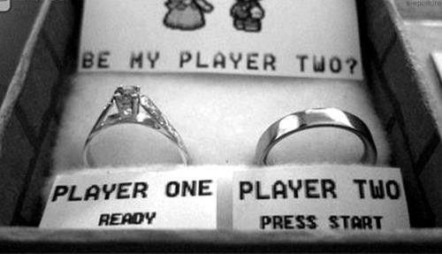 Demande en mariage Geek lol