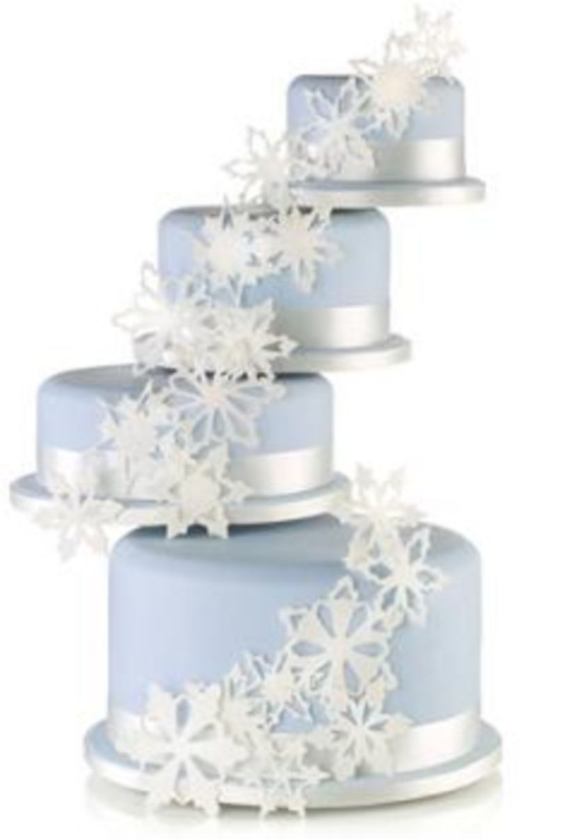 nice 37 Romantic Winter Wedding Cakes Ideas with Snowflakes http ...