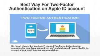 Ways To Configure Two Factor Authentication Apple