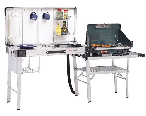 Camping Kitchen | Camping kitchen table, Coleman camp ...