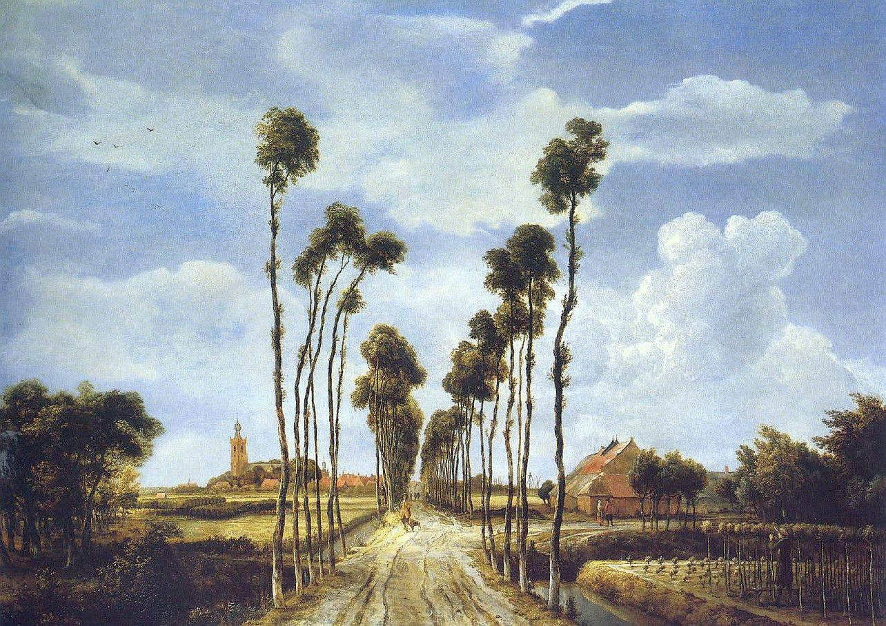 "Meindert Hobbema ""The Avenue at Middelharnis"", 1689"