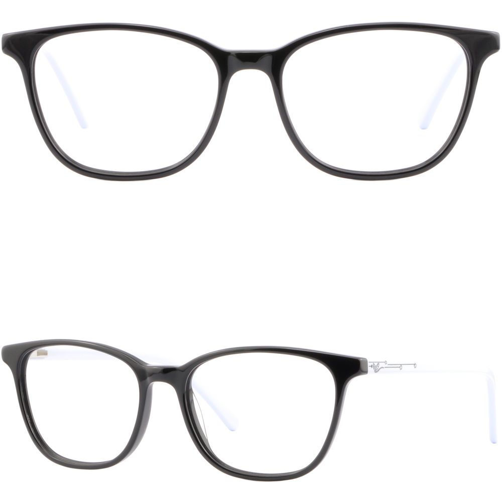 68a37490677 Plastic Browline Frames Prescription Glasses RX Light Plastic Sunglasses  Black