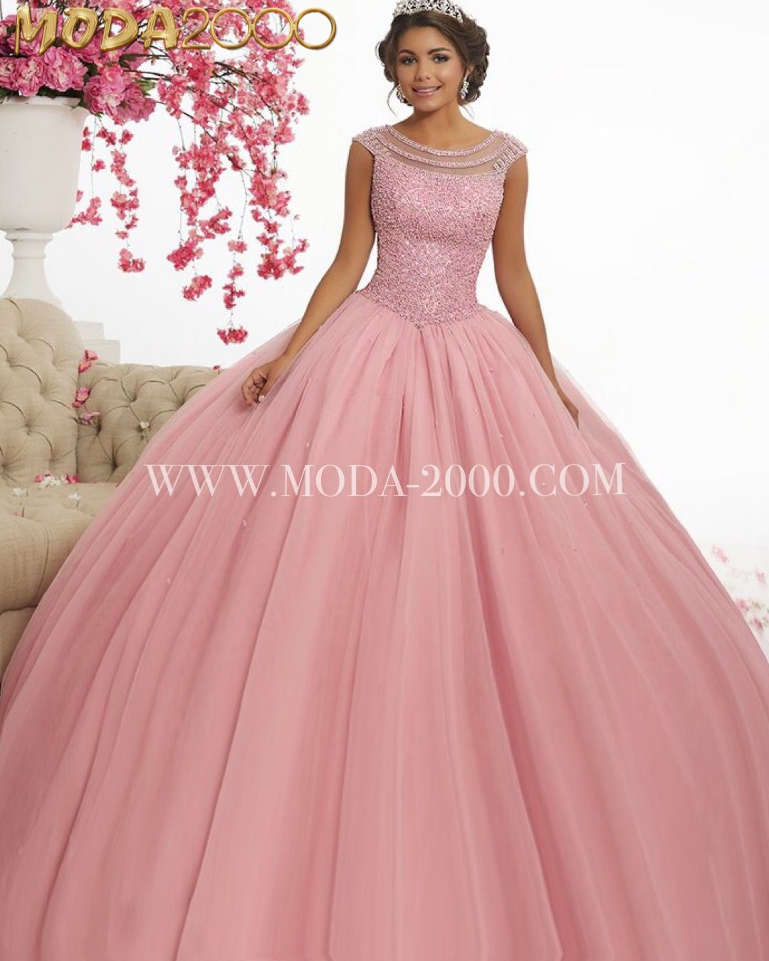 Rosey pink quinceañera sweet 16 dress! Available at Moda 2000 ...