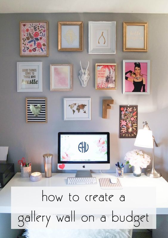 Creating A Gallery Wall On A Budget Dorm Room Diy