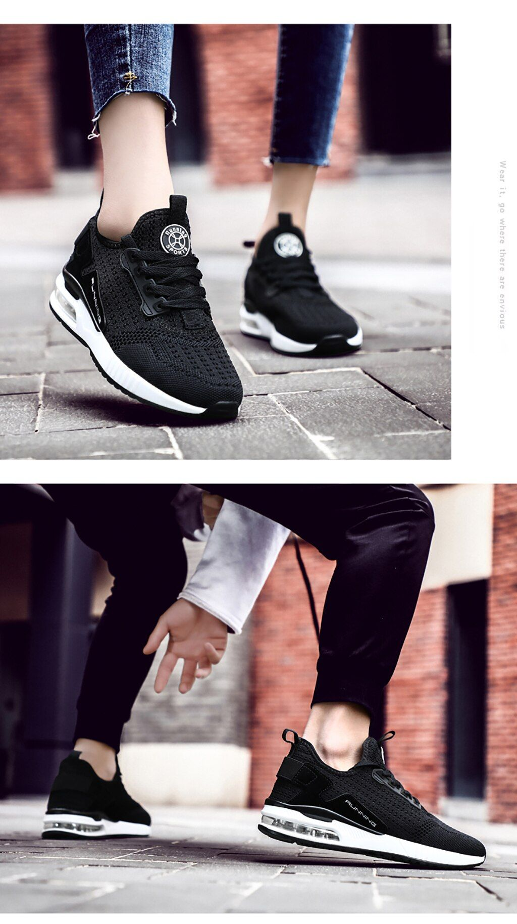 Couple Fly Weave AirCushion Casual Shoes in 2020