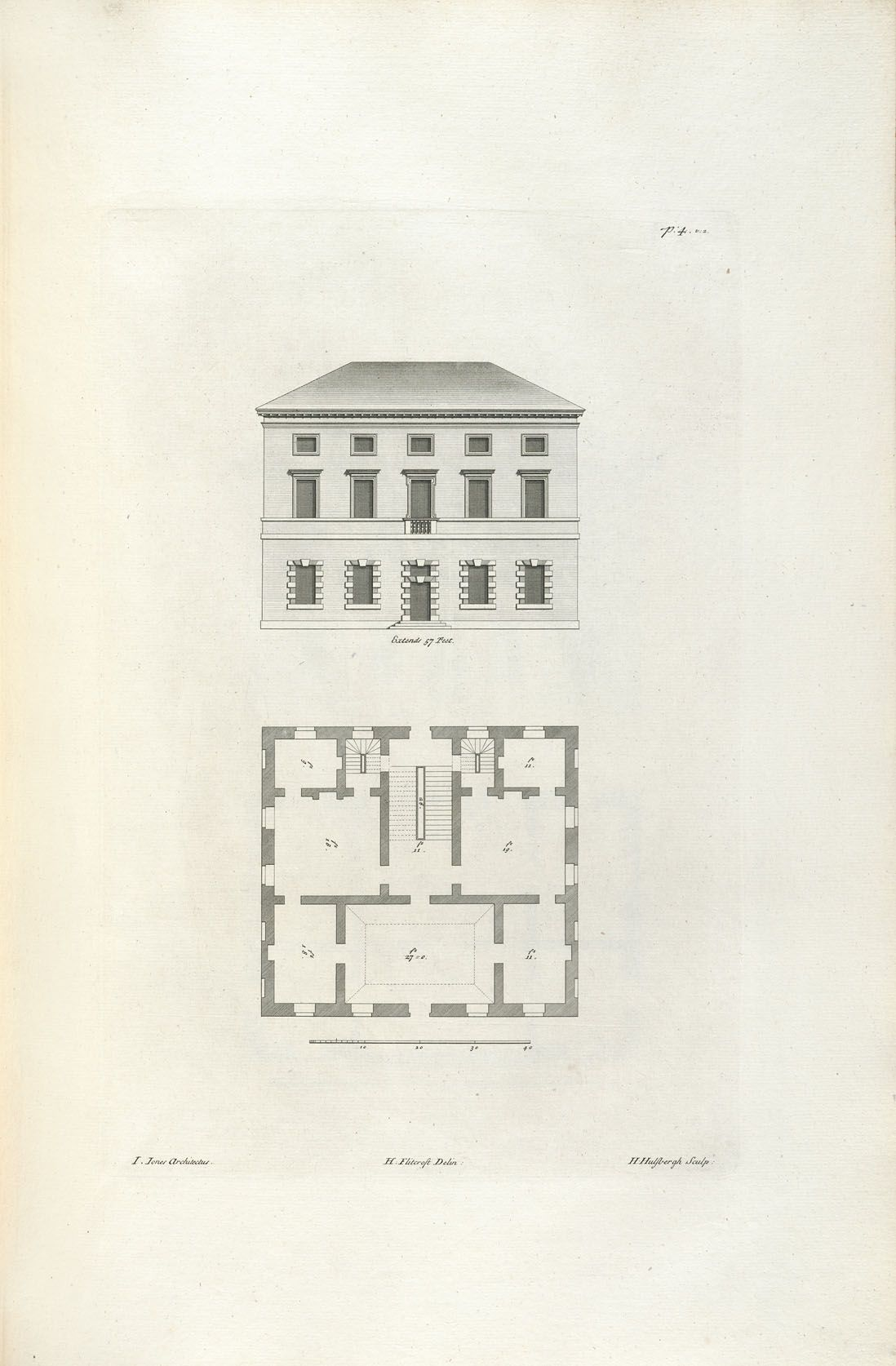 Decorative Arts The Designs Of Inigo Jones Consisting Of Plans And Elevations For Public And Private Bui In 2020 Vintage House Plans Vintage Architecture How To Plan