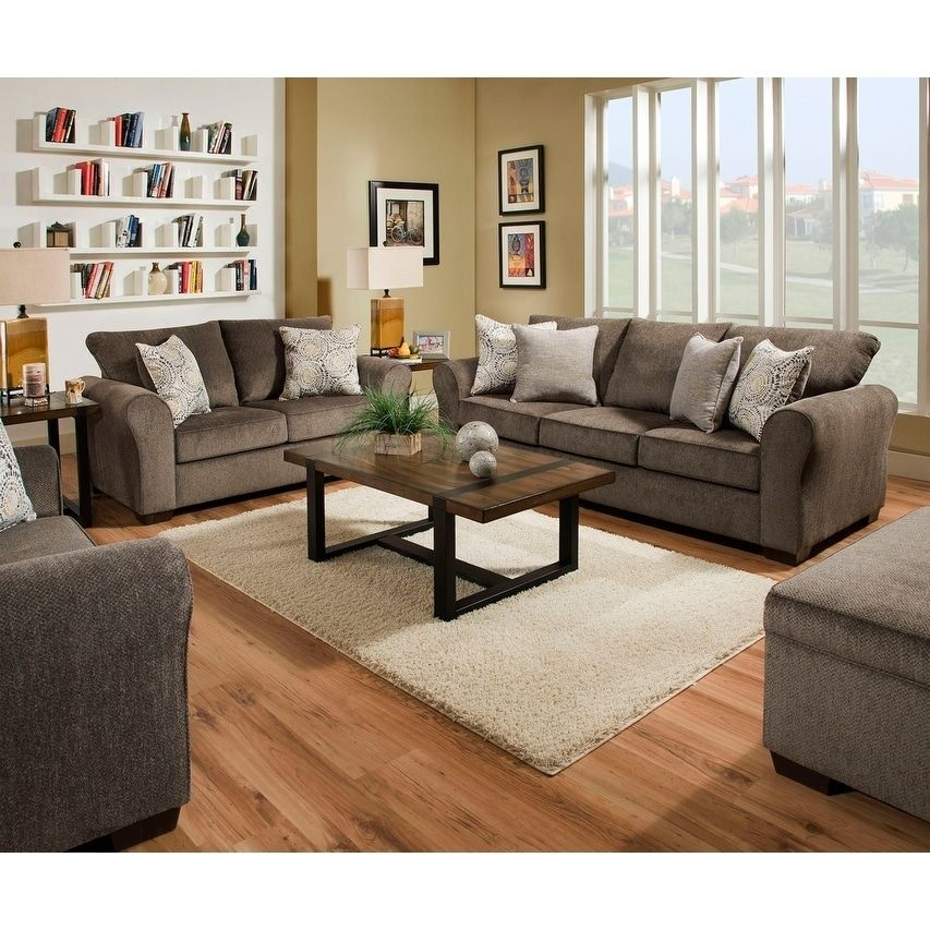 Stupendous Simmons Upholstery Harlow Ash Sofa And Loveseat Set Grey Caraccident5 Cool Chair Designs And Ideas Caraccident5Info