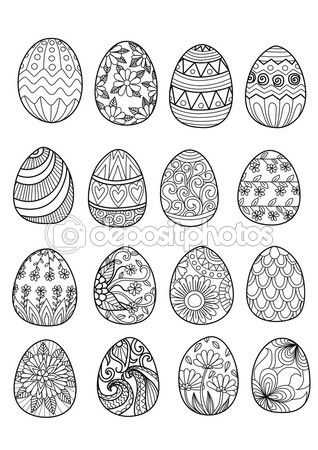 Pin By Inci On Siluetas Easter Coloring Pages Easter Colouring Coloring Easter Eggs