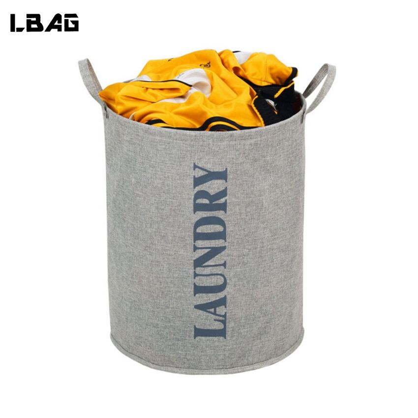Laundry Bags With Handles 2017 New Laundry Hamper Cotton Linen Laundry Basket With Handles