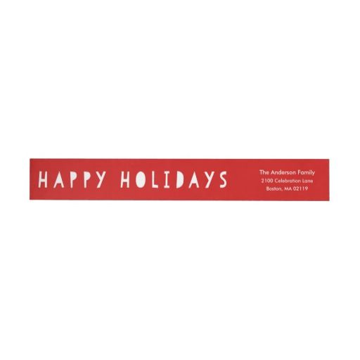 Cute Holiday Holiday Return Address Labels Return address