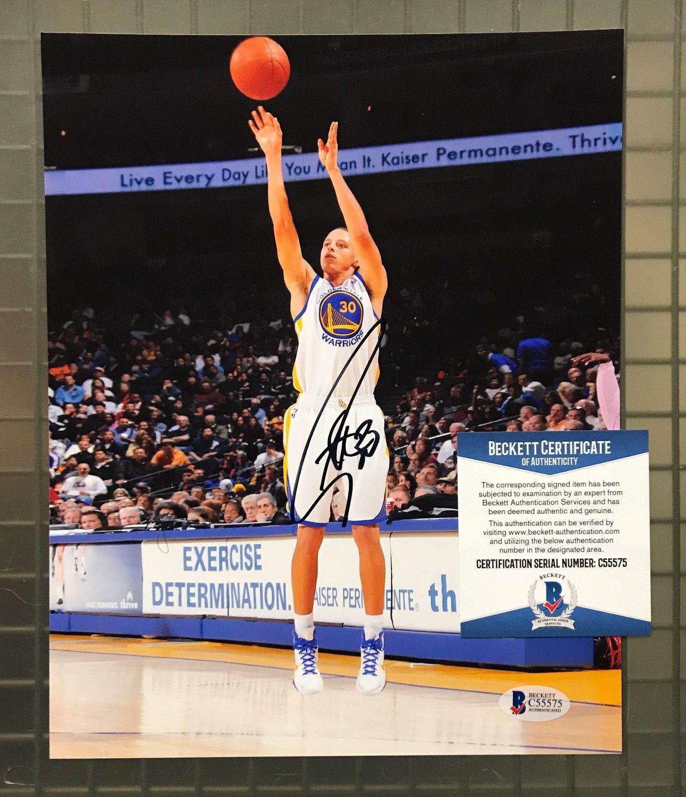 8a9dae7ae2a Stephen Curry Signed 8x10 Photo Autograph Beckett BAS COA Golden State  Warriors  Basketball