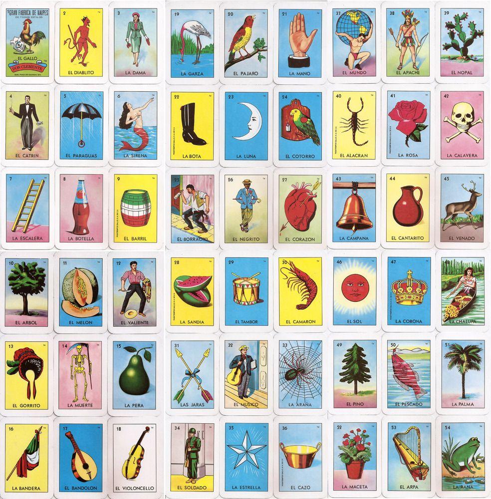 El Corazon Loteria Card Tarot and Mexican folk art