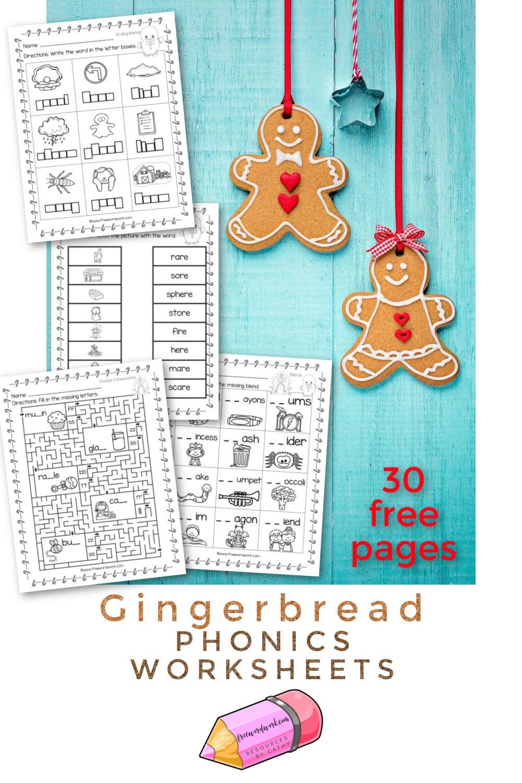 Gingerbread Phonics Worksheets Free Word Work Phonics Phonics Worksheets Phonics Kindergarten [ 1500 x 1000 Pixel ]