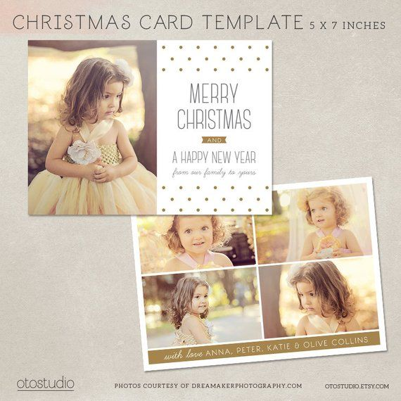 Digital Photoshop Christmas Card Template For Photographers Psd Flat Card M Christmas Card Template Photoshop Christmas Card Template Digital Christmas Cards