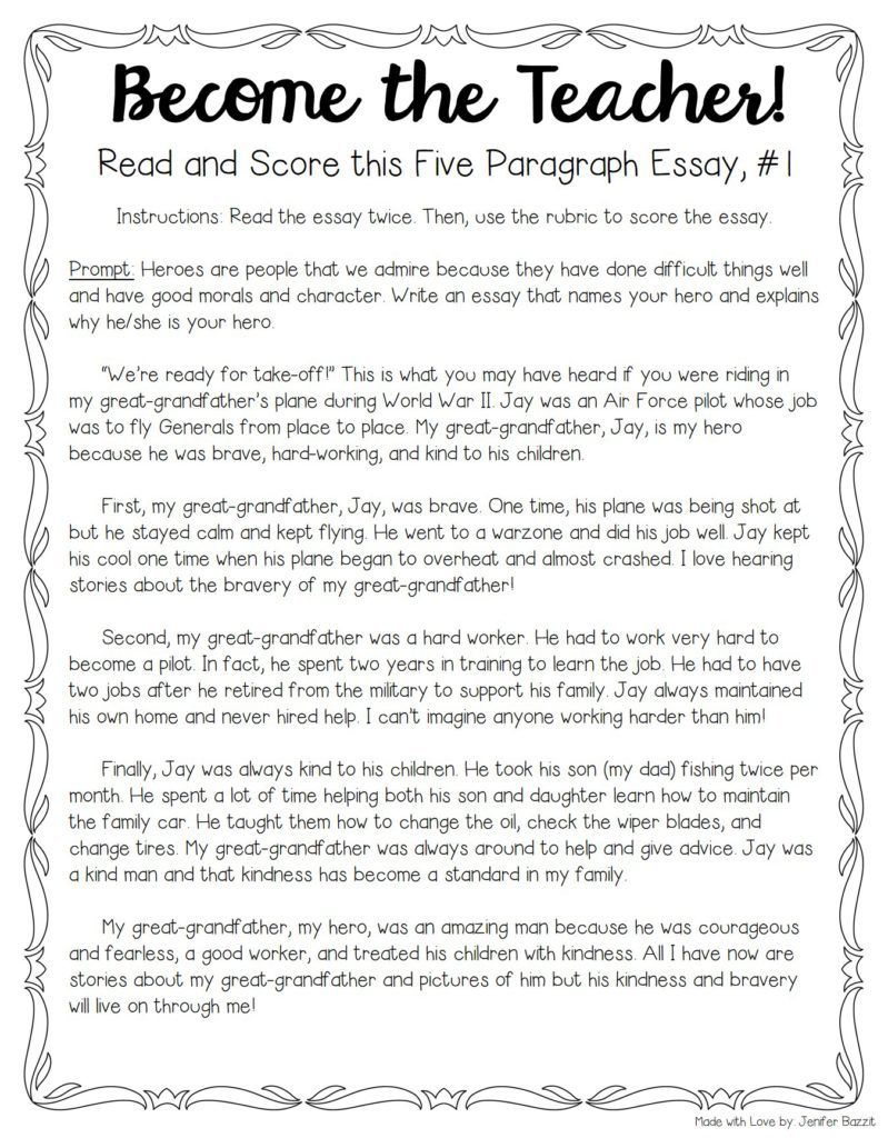 Tips for Teaching and Grading Five Paragraph Essays | writing ideas ...