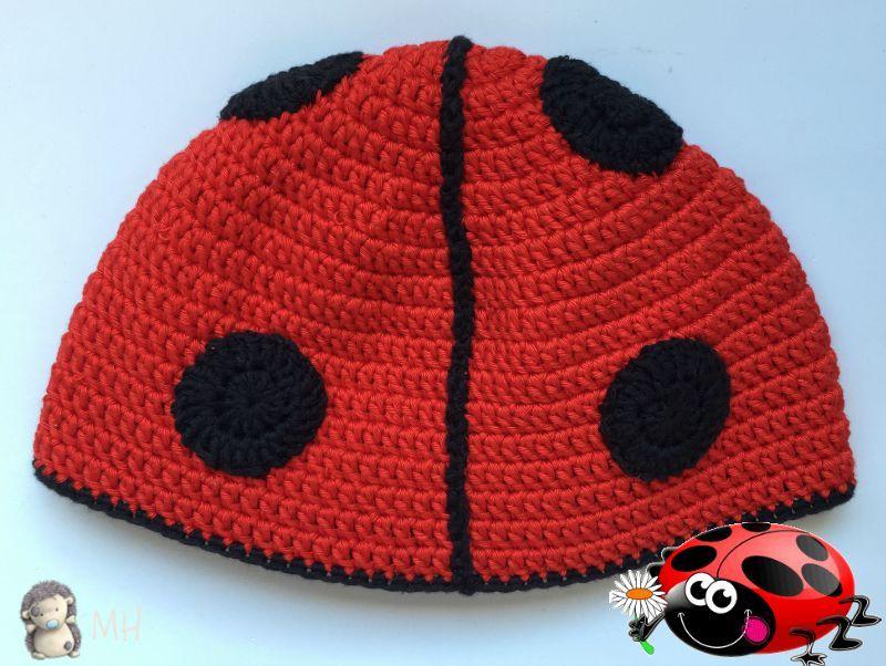 Gorro mariquita a crochet | gorros | Pinterest | Mariquita, Niños ...