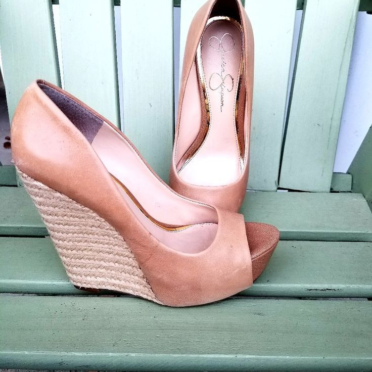 Jessica Simpson Shoes | High Heels, Wedges | Color: Brown | Size: 8.5 – io.net/style – Style