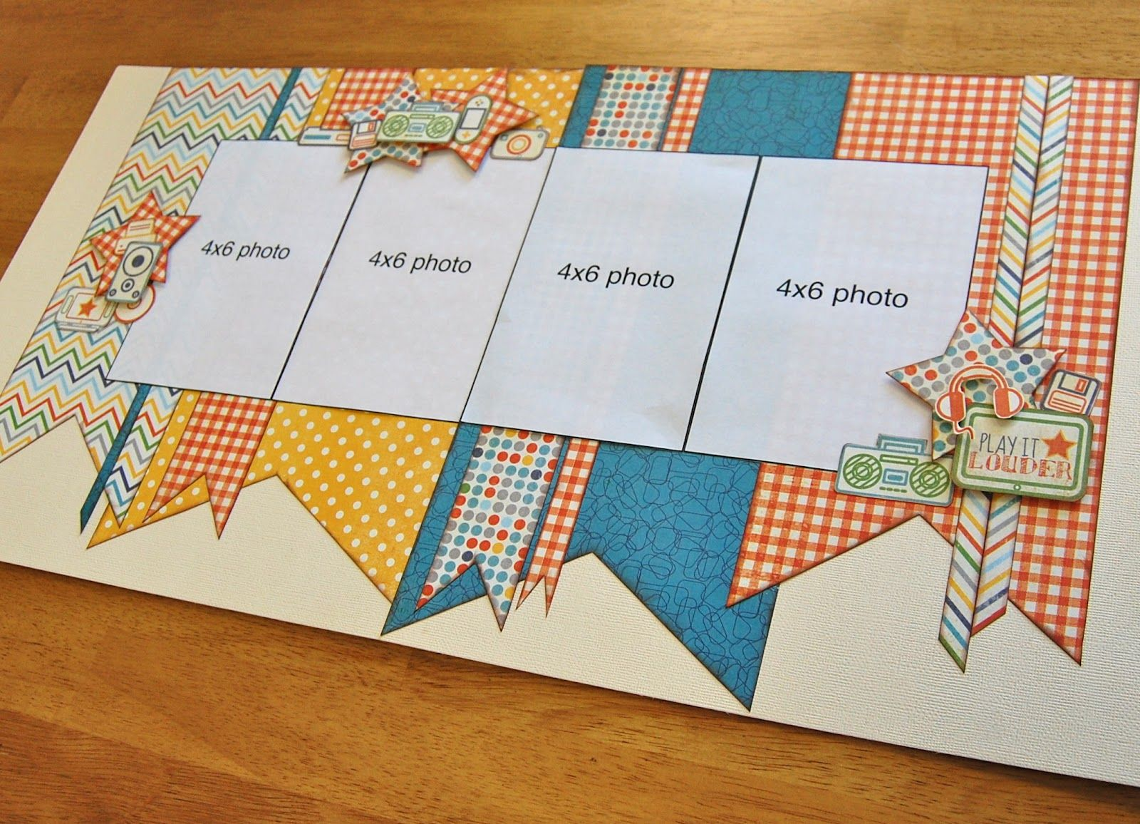 Double Page Scrapbook Layout Sketch | Debbie Sanders ...