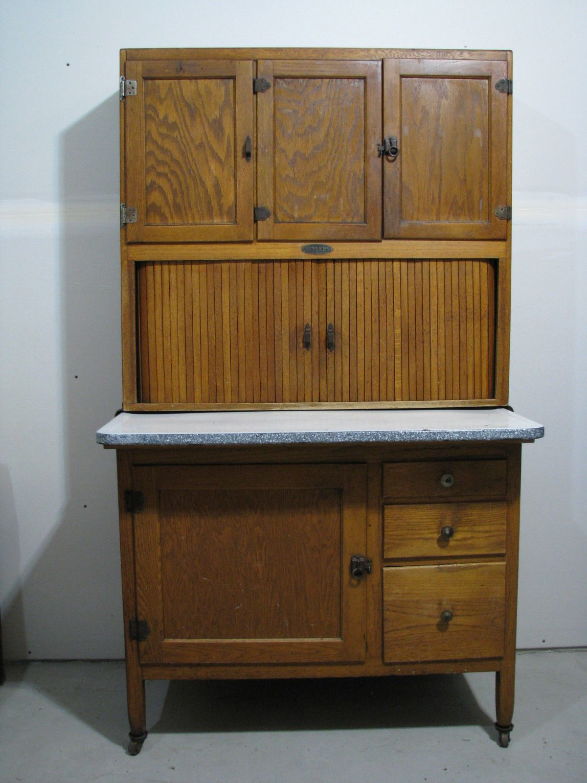 Ebay Kitchen Cabinets >> Details About Vintage Sellers Hoosier Kitchen Cabinet Early