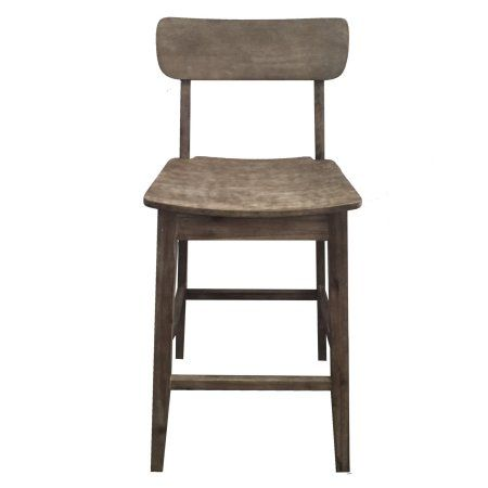 Boraam 76729 Torino 29 Inch Counter Stool Gray Wire Brush Finish