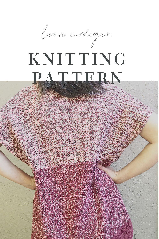 The Lana Cardigan a Free Beginner Knitting Pattern in 2020 ...