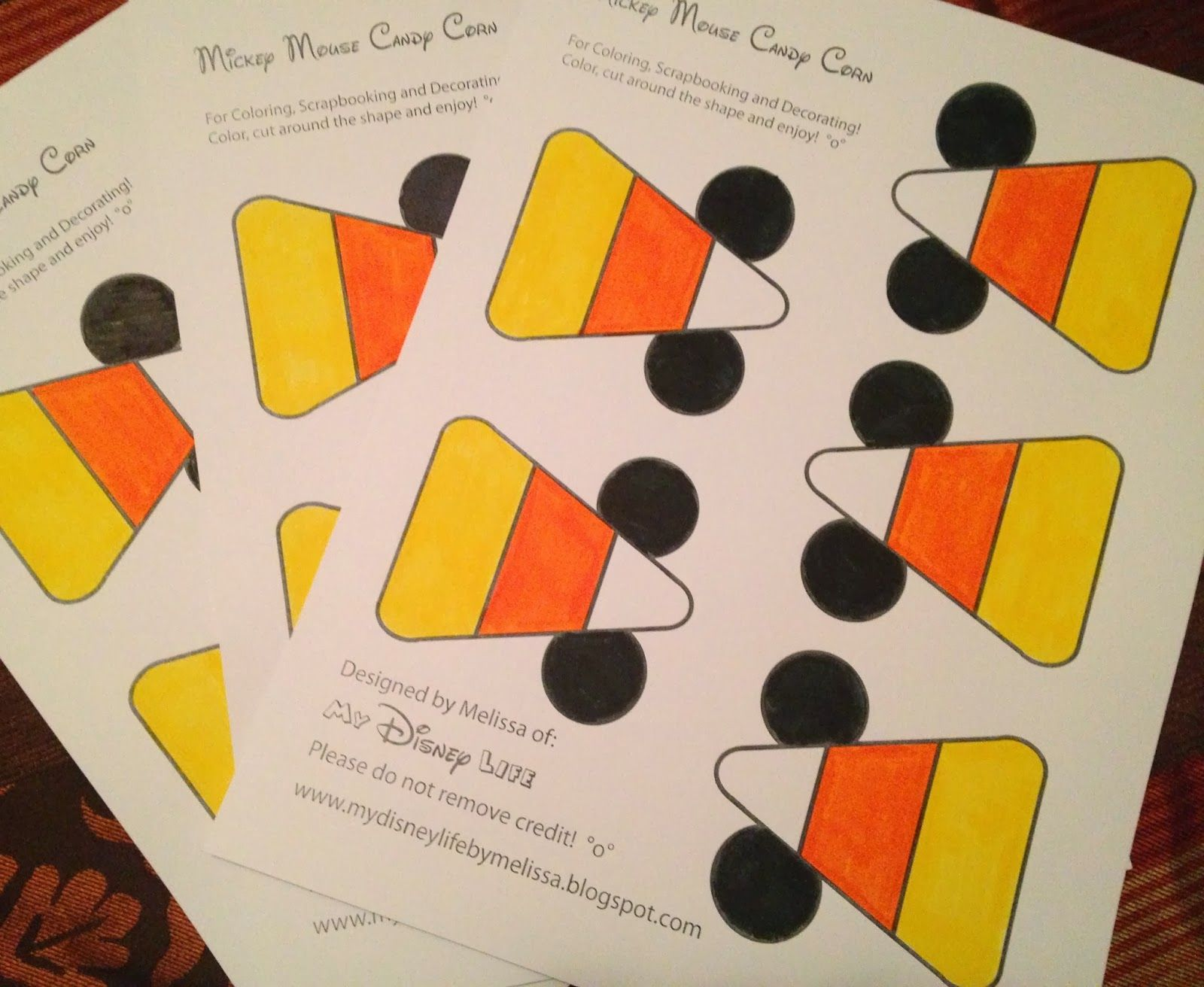 My Disney Life: FREE Mickey Candy Corn Printable PDF for Halloween decorating or scrapbooking!