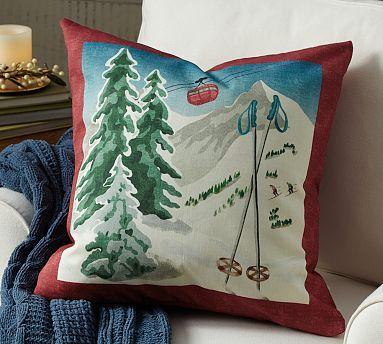 Ski Tram Pillow Cover Jh House Potterybarn I Love