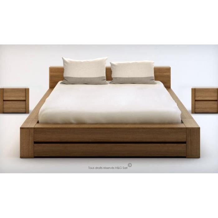 lit 2 personnes bois massif design