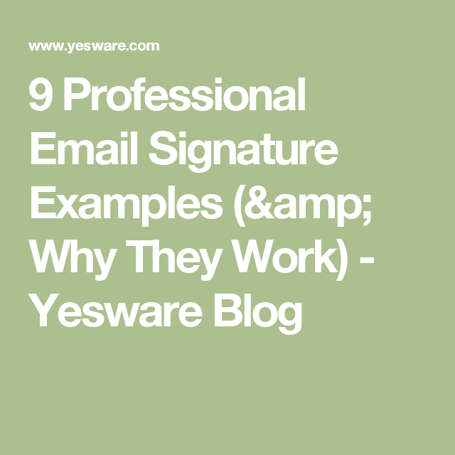 professional email signature examples
