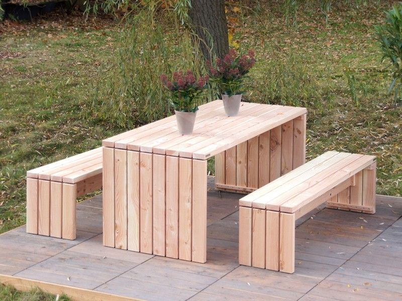 Gartenmöbel Set 1, wetterfestes Holz, Douglasie - Made in Germany