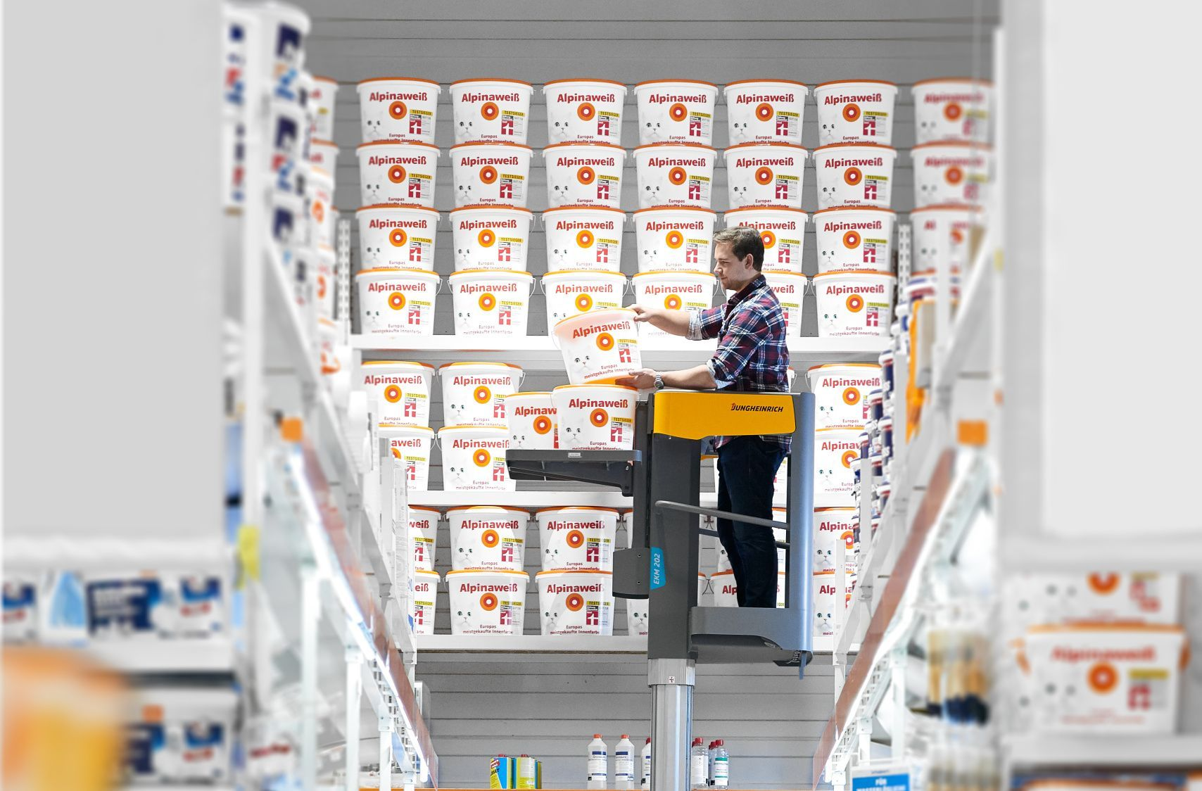 The Company Jungheinrich Announced New Vertical Loader Ekm 202 It Is Perfect For Hypermarkets With A Shelf Storage System Its Width Is Only 760 Mm Which Pr