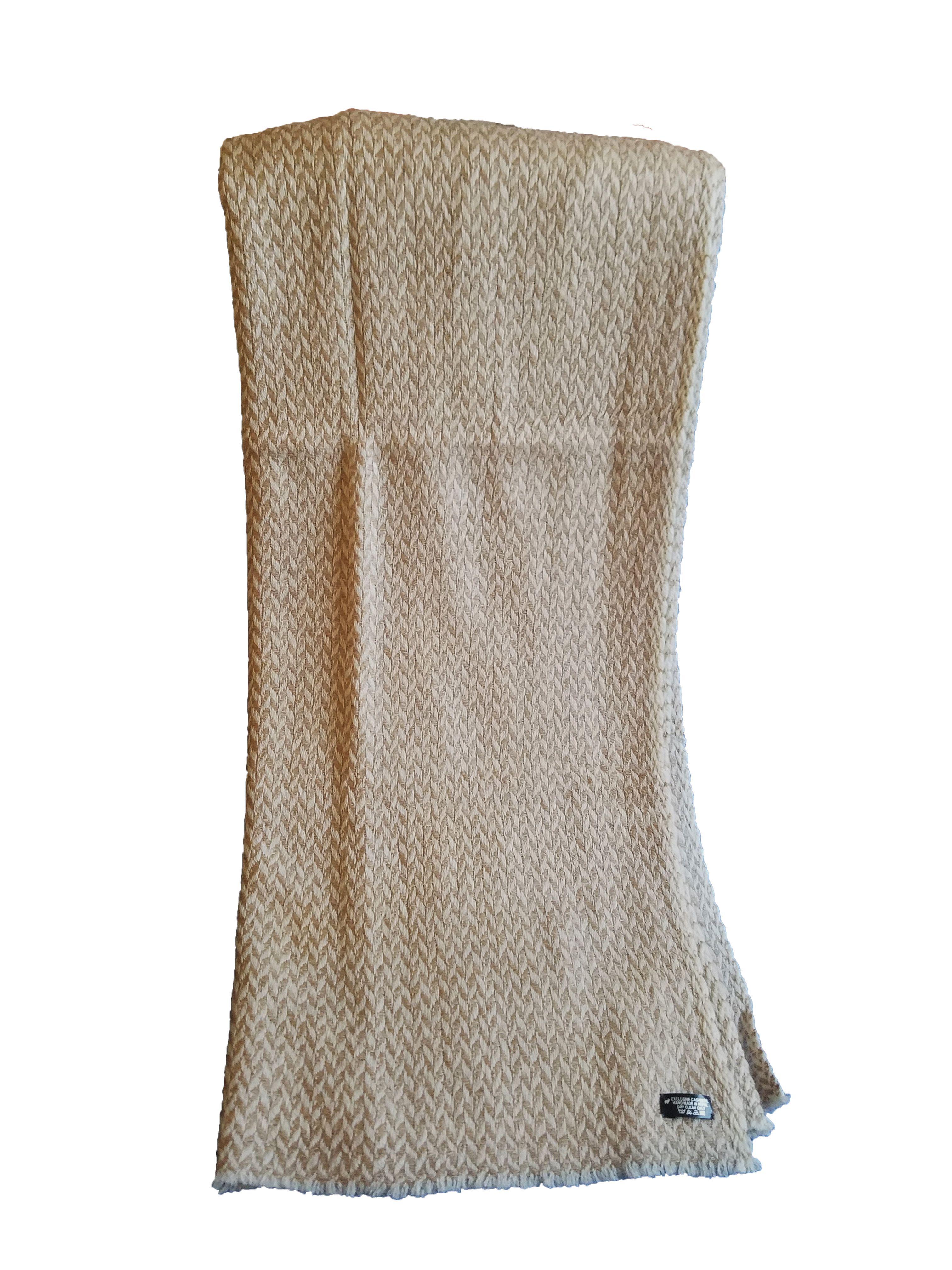 Pure Handmade Pashmina Cashmere Thick Blanket 28 X 82 Herringbone
