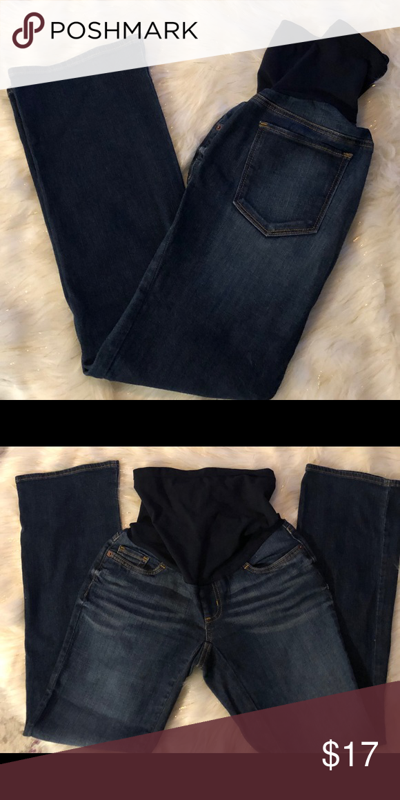 e888d9b50e551 A Pea In The Pod Maternity Jeans Sz P Small Maternity Jeans that are in  Excellent