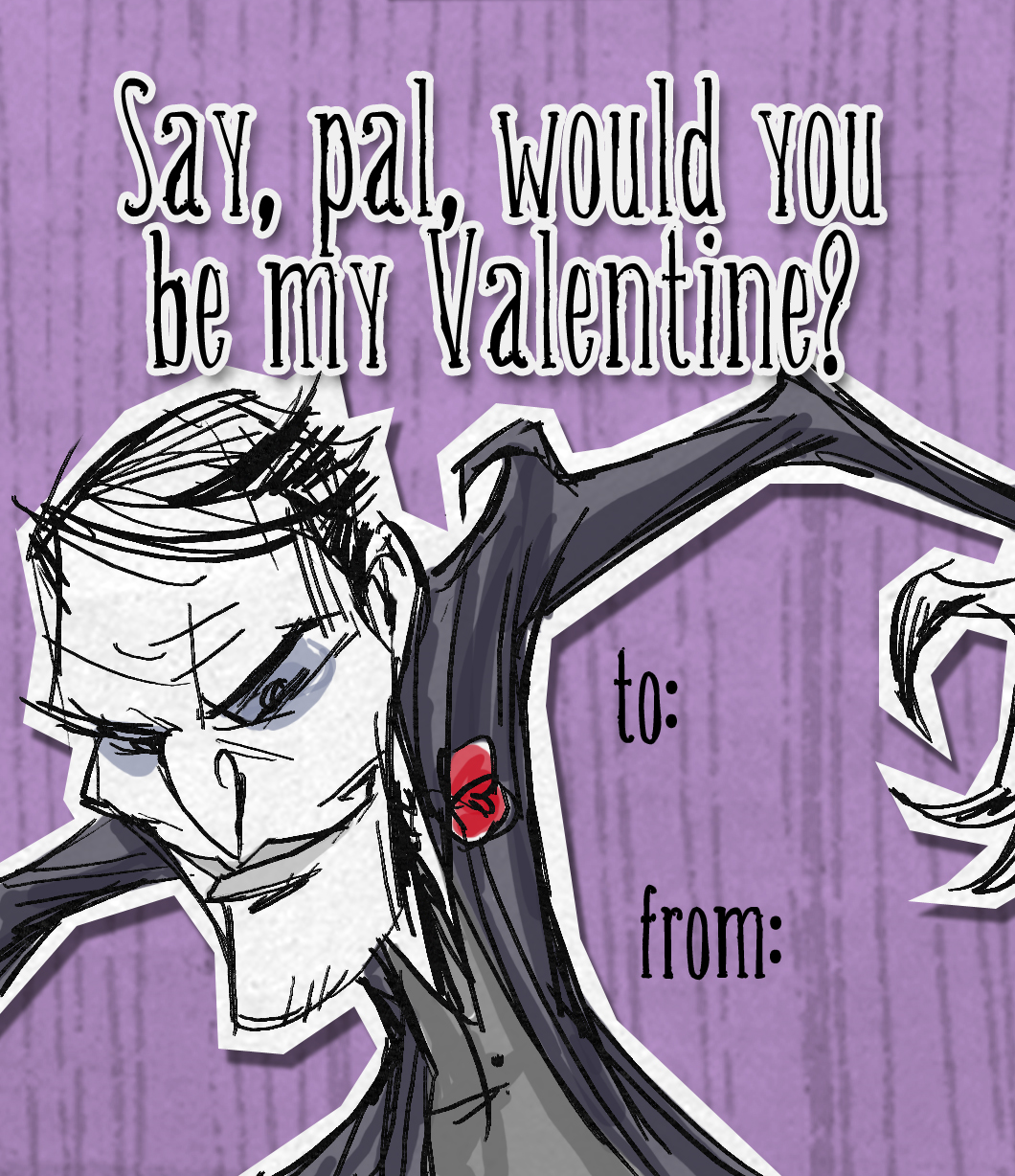 Don T Starve Maxwell Valentine Videogame Art Don T Starve