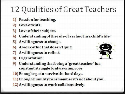 Personal Qualities List