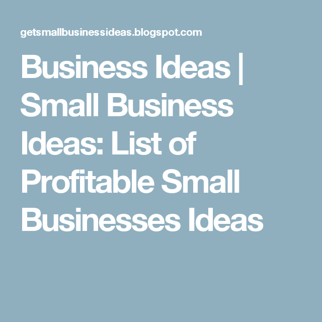 List Of Home Based Small Business Ideas