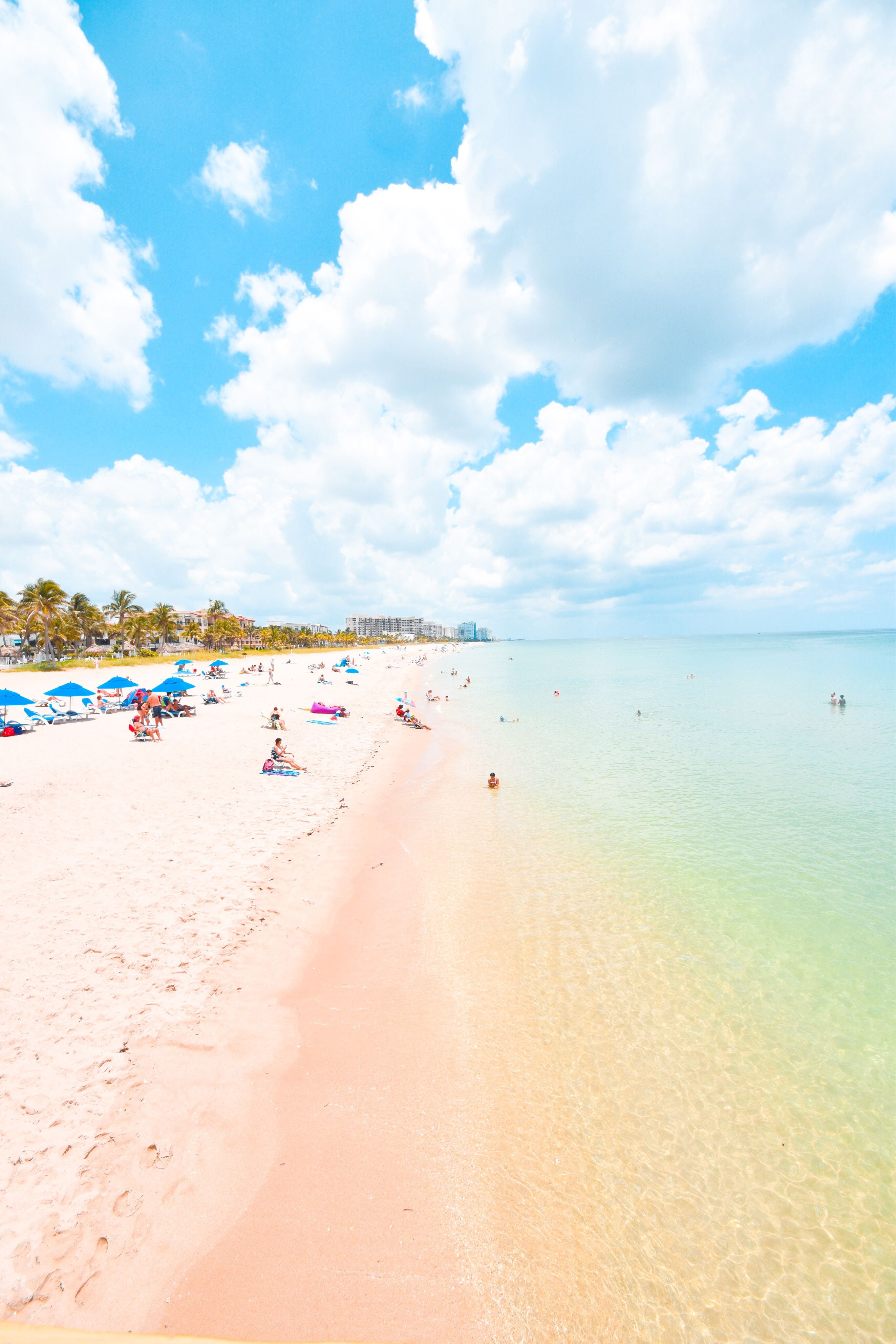 Rainbow-colored Beaches In Fort Lauderdale, Florida