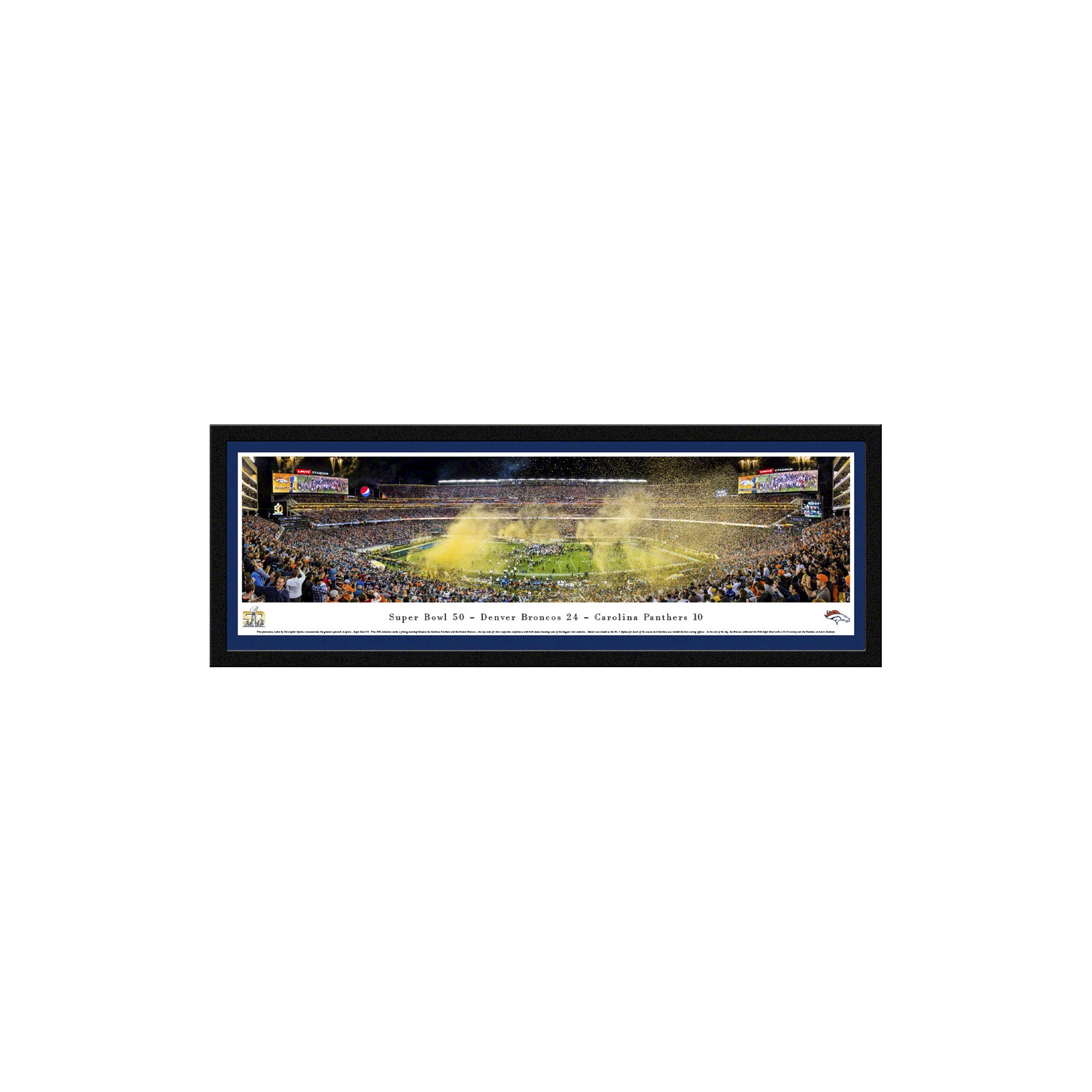 NFL Champions Blakeway Stadium View Select Framed Wall Art - Denver ...