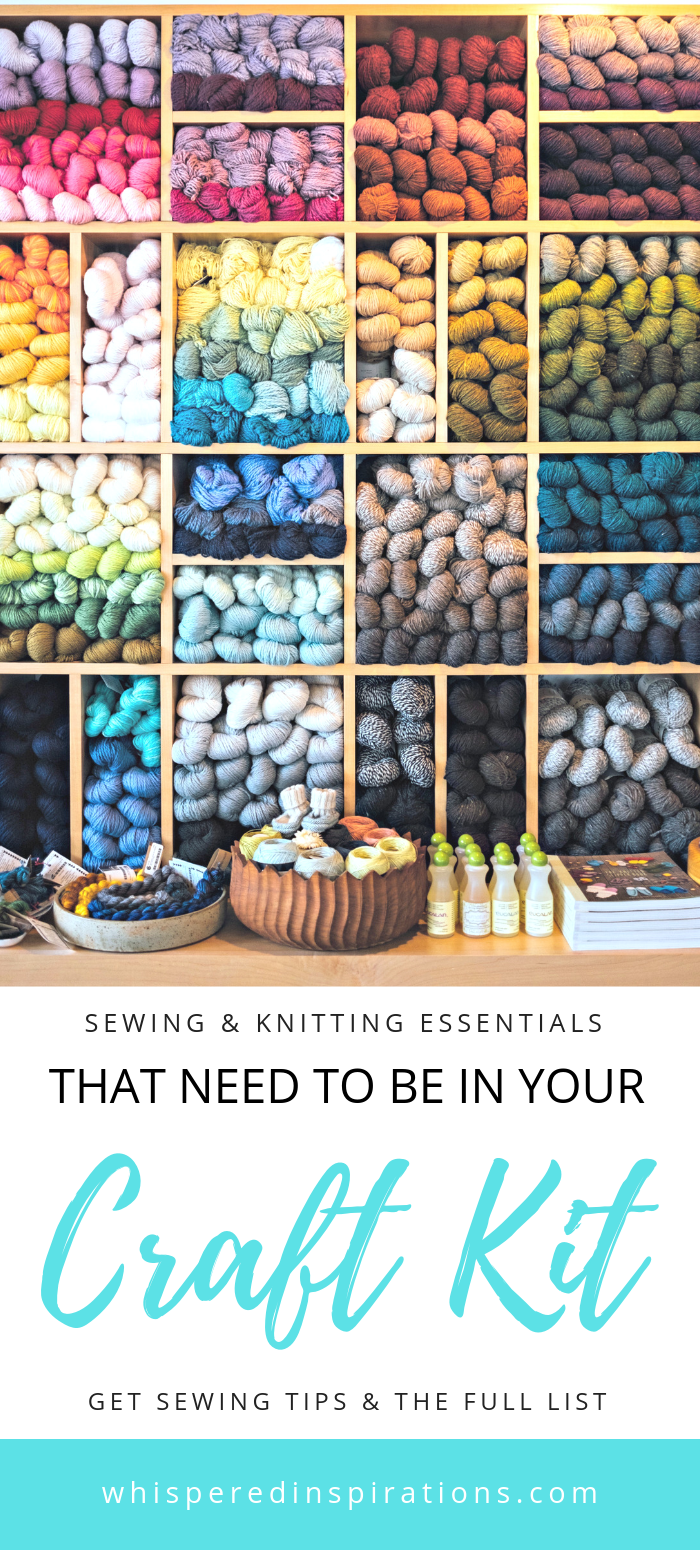 How to's : When hit with a sudden feeling of inspiration, you will want to break out your craft supplies. Here are essentials that need to be in your craft kit! #knitting