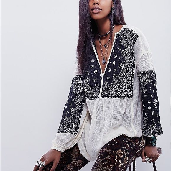 Free people new romantic yin yang tunic Brand new! Bought it on FP online. Came with no tag. So cute!!! It's still on FP site for $129! But this size is sold out! :) Free People Tops Tunics