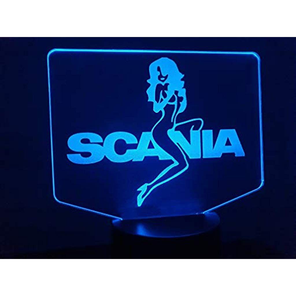Lkw Scania Girl 3d Lampe Led Handmade Produkte Schreibwaren Partybedarf Handmade Produkte Kuche Haushalt Handmade Produkte Bekleidu 3d Lamp Led Lamp Led