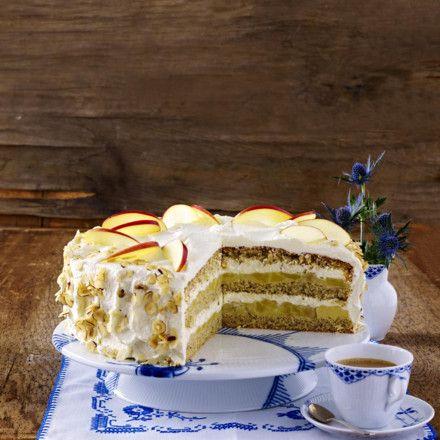 Apfel Haselnuss Torte Rezept Lecker Rezept Torten Rezepte Kuchen Und Torten Leckere Torten