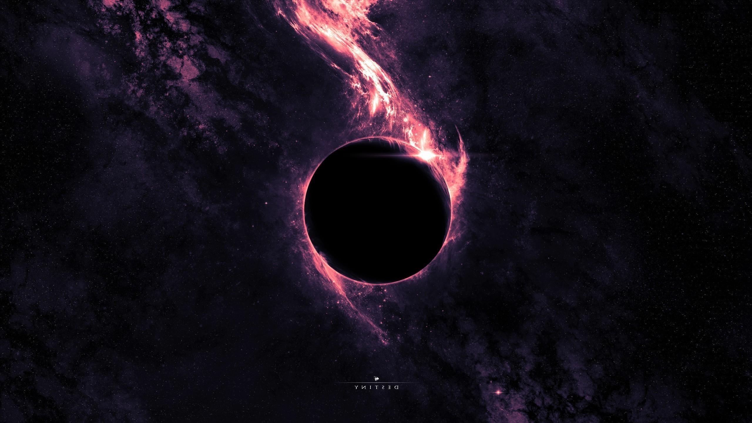 Space Dwarf Planet Purple Lighting Hd Wallpaper Black Hole Wallpaper Dark Purple Wallpaper Destiny Wallpaper Hd
