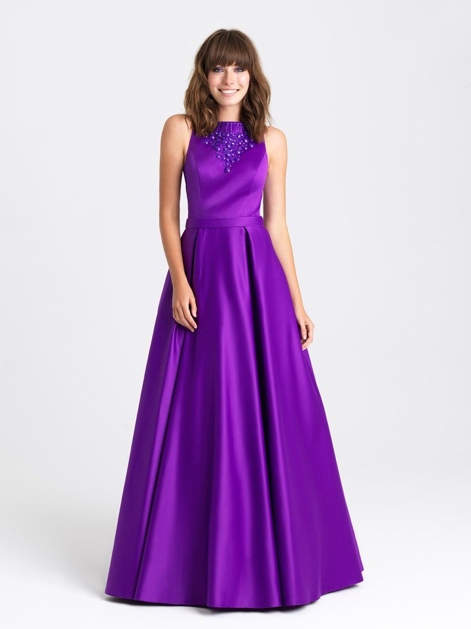 Capture every eye in this timeless satin gown. Perfect for prom ...