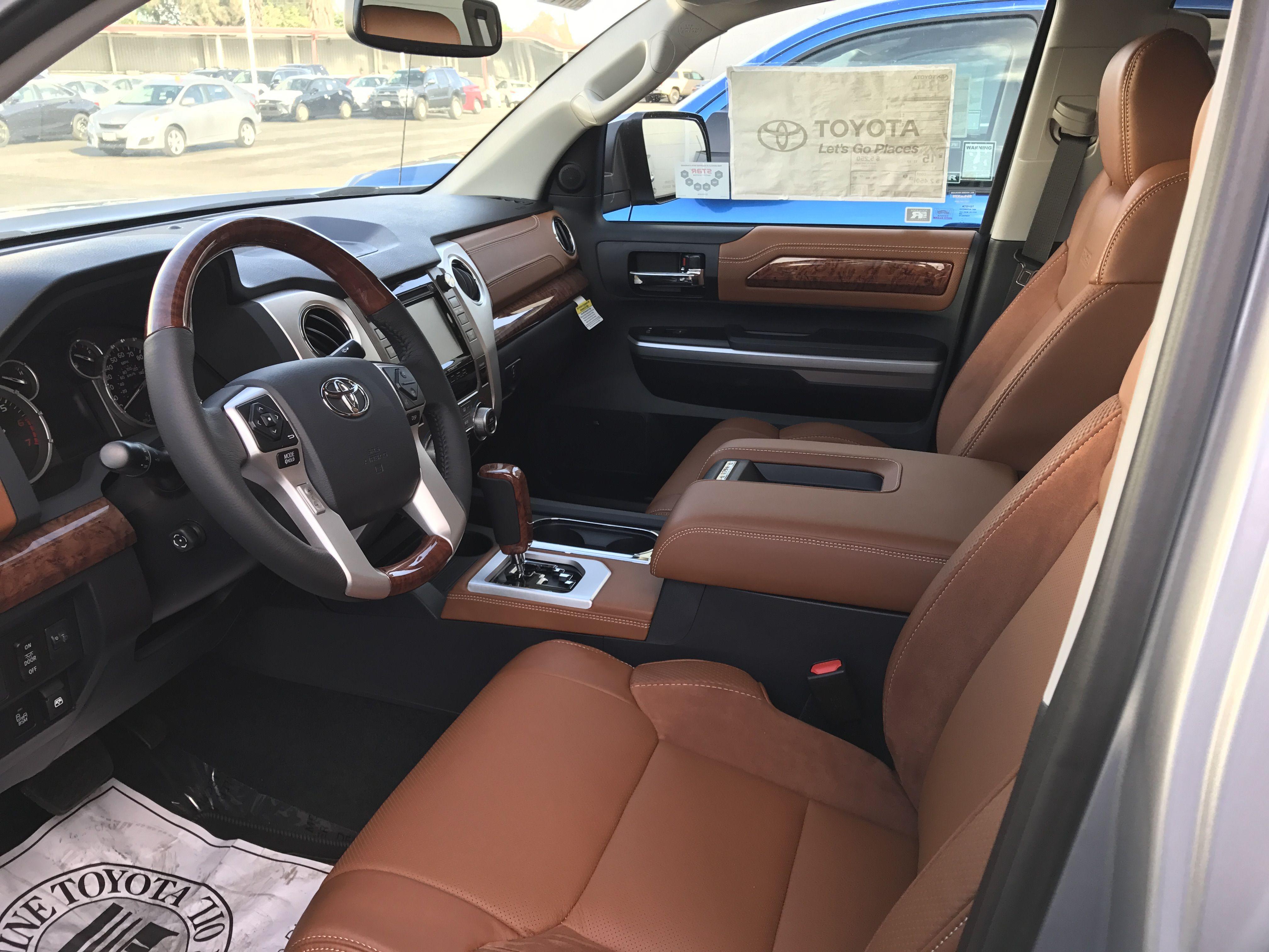 17 Toyota Tundra 1794 plush interior driver seat