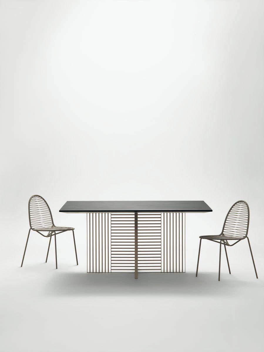 Oh tavolo quadrato indoor struttura in metallo saldato a ...