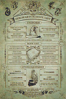Details about Harry Potter - Movie Poster (Hogwarts School List) (Size: 24