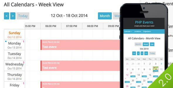 PHP LBEvents - Events Calendar  PHP LBEvents is a php script that - event calendar
